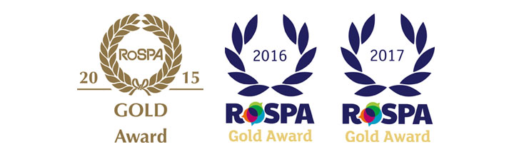 RoSPA Health and Safety Gold award 2017