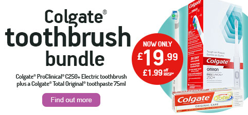 Colgate C250 Electric Toothbrush + Total Original Toothpaste 75ml Bundle