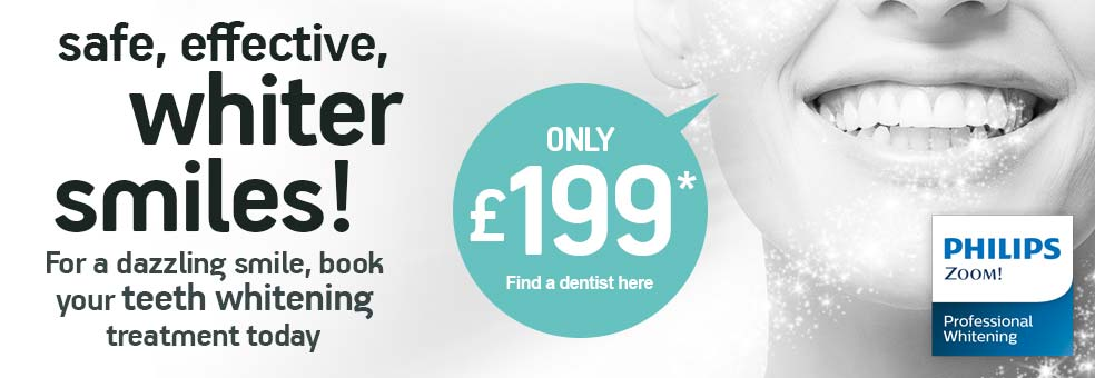 Safe, effective whiter smiles only £199*