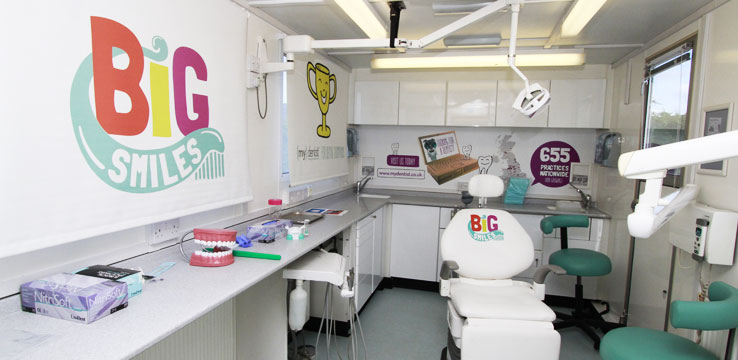The mydentist Smile Mobile is educating children around the UK how to have a happy healthy mouth