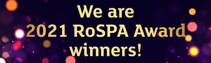 Rospa 2021 Gold Award
